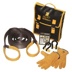 Recovery Strap Kit HD 60mm x  9M  8t with gloves and  shackles