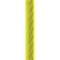 Beaver Fibre Core Galvanised ROHL PVC Coated Wire Rope Yellow 4mm 6x19