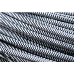 Beaver Fibre Core Galvanised ROHL PVC Coated Wire Rope Blue 5mm 6x19