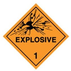 Explosive Safety Sign