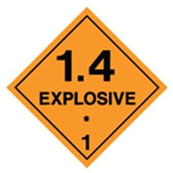 Explosive 1.4 Safety Sign
