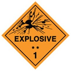 Explosive** 1 Safety Sign