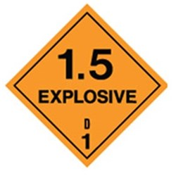 Explosive 1.5 Safety Sign