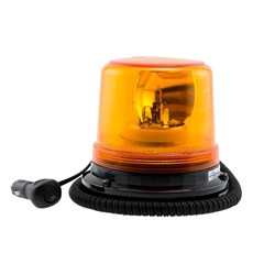 Rotary Beacon 12V Amber Cig Plug Magnetic Base