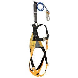 B-Safe Harness Fitted With Wire Rope Lanyard