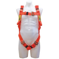 B-Safe Full Body Harness in Fluro Orange With 2m Shock-Absorbing Lanyard