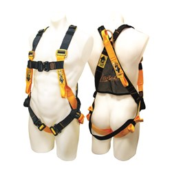 Full Body Harness C/W Rear & Front Fall Arrest Attach & Con Space Pts & Quick Release Bkls