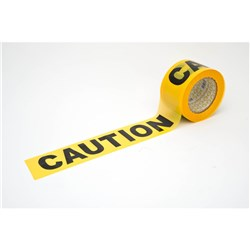 Frontier Caution Safety Tape Yellow/Black 100 mtrs