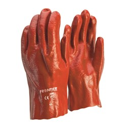 Frontier Red PVC Single Dipped Glove