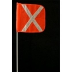 Heavy Duty 1.5m Flagstaff Reflective Cross Flag