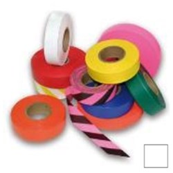 White Flagging Tape 25mm x 100m