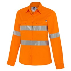 WS Workwear Koolflow Womens Hi-Vis Shirt with Reflective Tape
