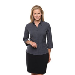 City Collection Womens Ezylin Button-Up Shirt