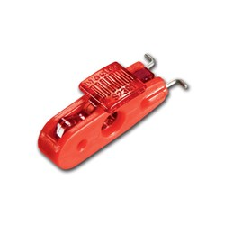 Master Mini Crct Brkr L/Out Wide Red