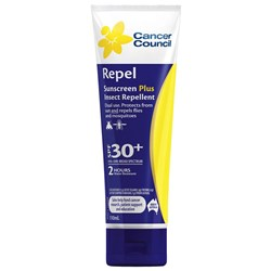 Cancer Council Sunscreen 30+ Repel 110ml Tube ****NLA***