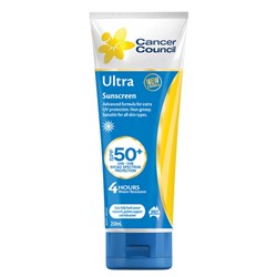 Cancer Council SPF50+ Ultra Sunscreen - 250ml