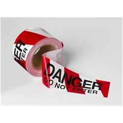 Red and White Danger - Do Not Enter Tape