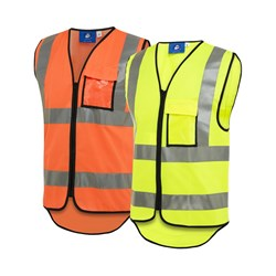 WS Workwear Hi-Vis Safety Vest with Reflective Tape