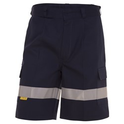WS Workwear Mens Cargo Shorts with Reflective Tape