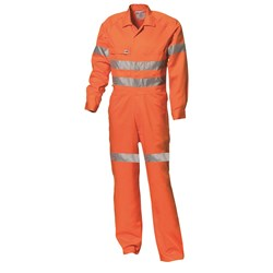 WS Workwear Hi-Vis Drill Overall with Reflective Tape