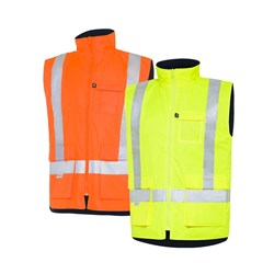 WS Workwear Hi-Vis Reversible Vest with Reflective Tape
