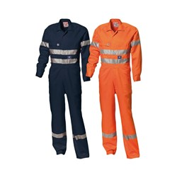 WS Workwear Mens Hi-Vis Drill Coverall with Reflective Tape