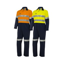 WS Workwear Hi-Vis Coverall with Reflective Tape