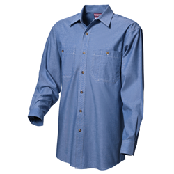 WS Workwear Mens Chambray Button-Up Shirt