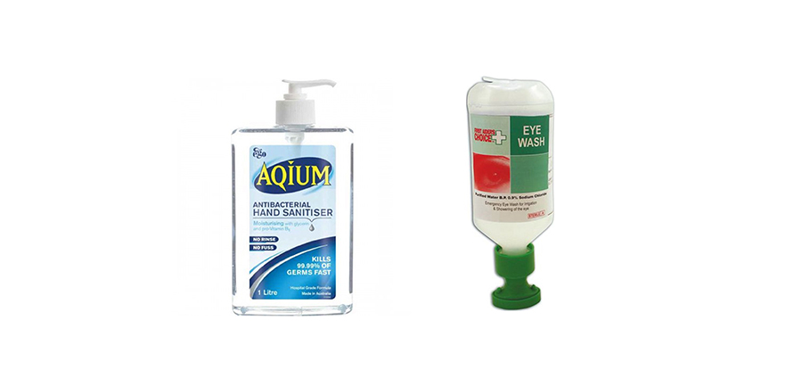 Sanitisers & Eye Wash